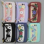 Flower Handbag Style Silicone Case for Apple iPhone 4/4S