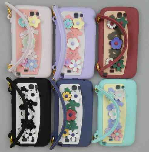 Flower Handbag Style Silicone Case for Apple iPhone 5 & iPhone 5S