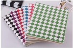 Colour Checkered Leather Book Case with Stand for Apple iPad Mini