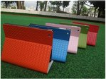 Knitted Designed Leather Book Case with Stand for Apple iPad 2/3/4