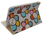 Sunflower Patterned Leather Book Case with Stand for Apple iPad Mini